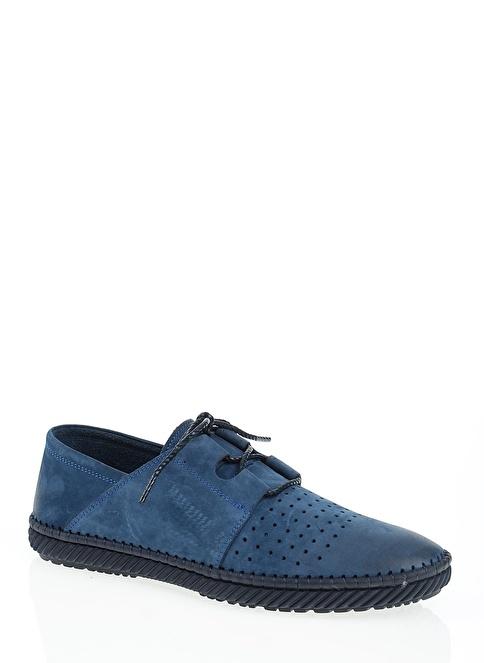 Hammer Jack %100 Deri Bağcıklı Ayakkabı Mavi